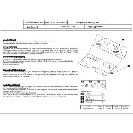 Toyota Land Cruiser 120 / Prado (steering cover) 3.0 TD - Aluminium