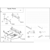 Toyota Previa (cover under the engine and gearbox) 2.0, 2.4 - Metal sheet