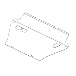 Toyota RAV 4 III (cover under the engine and gearbox) 2.0 - Metal sheet