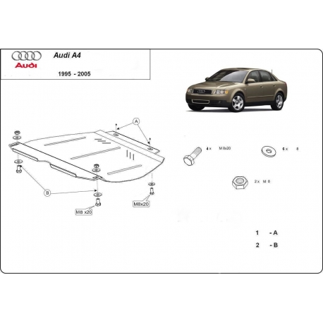 Audi A4 (cover gearbox) 2,6 V6, 2.8B, 2.5D - Metal sheet