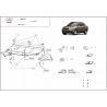 Audi A4 (cover under the engine) 2,6 V6, 2.8B, 2.5D - Metal sheet