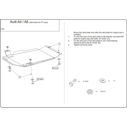 Audi A4 (Cover the automatic transmission) - Metal sheet