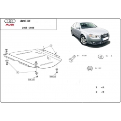 Audi A4 (kryt pod prevodovku) 2.0, 1.6, 1.8, 1.9TDi, 2.0TDi