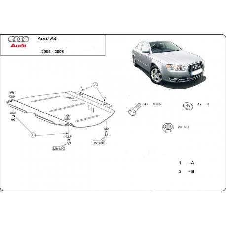 Audi A4 (cover gearbox) 2.0, 1.6, 1.8, 1.9TDi, 2.0TDi - Metal sheet