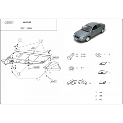 Audi A6 (cover under the engine) 2.6, 2.8, 2.5D, 2.4T - Metal sheet