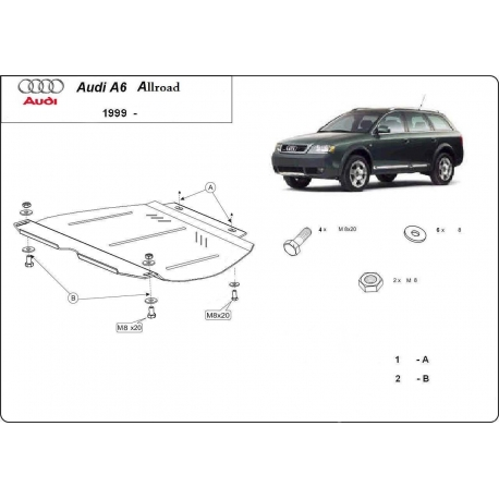 Audi Allroad (cover gearbox) - Metal sheet