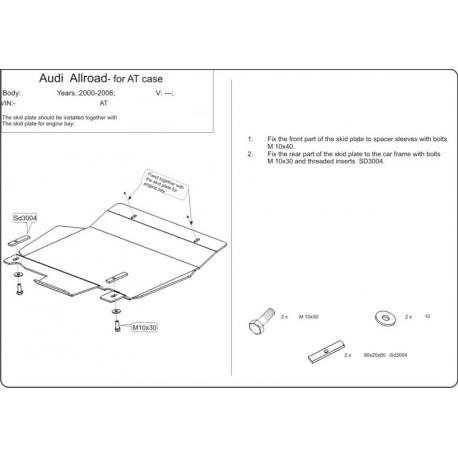Audi Allroad (Cover the automatic transmission) - Aluminium