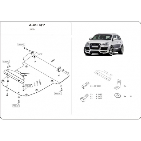 Audi Q7 Offroad Style Paket (cover under the engine) - Metal sheet