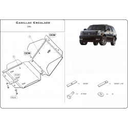 Cadillac Escalade III (cover under the engine) 6.2 V8 - Metal sheet