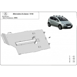 Mercedes A-classe W169 (cover under the engine)