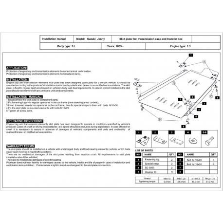 Suzuki Jimny Getriebeschutz 1.3 (4WD) - Stahl
