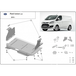 Ford Transit Custom (cover under the engine) - Metal sheet