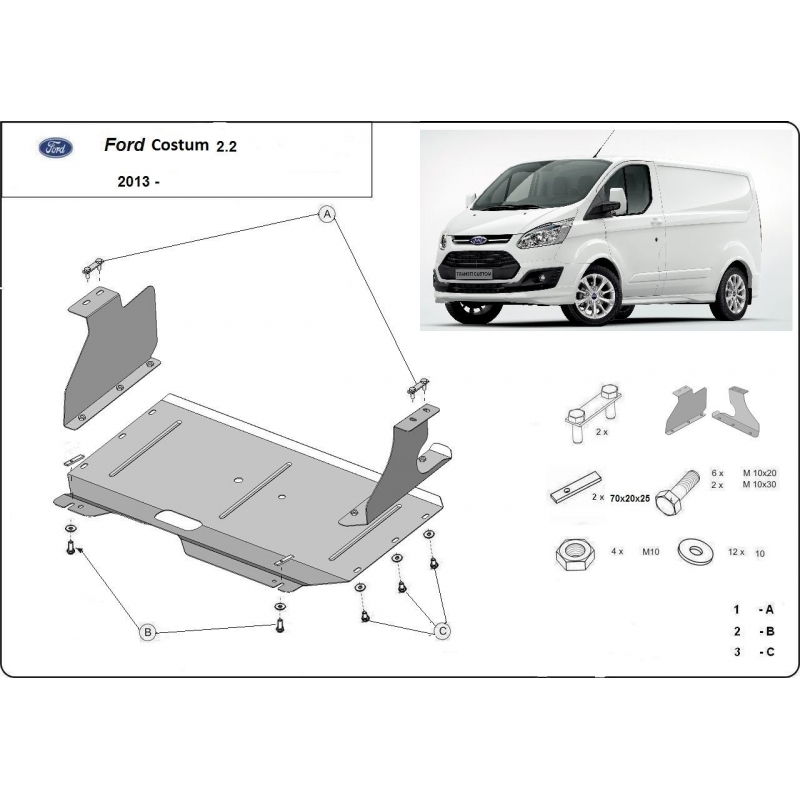 ford transit custom kryt pod motor plech. Black Bedroom Furniture Sets. Home Design Ideas