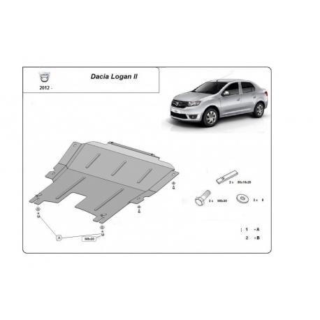 Dacia Logan (cover under the engine) - Metal sheet