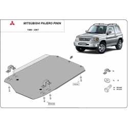 Mitsubishi Pajero Pinin Cover under the gearbox - Metal sheet