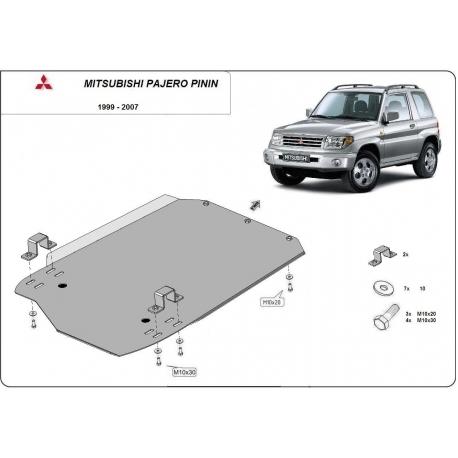 Mitsubishi Pajero Pinin Getriebeschutz - Stahl