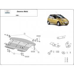 Daewoo Matiz Cover under the engine - Metal sheet