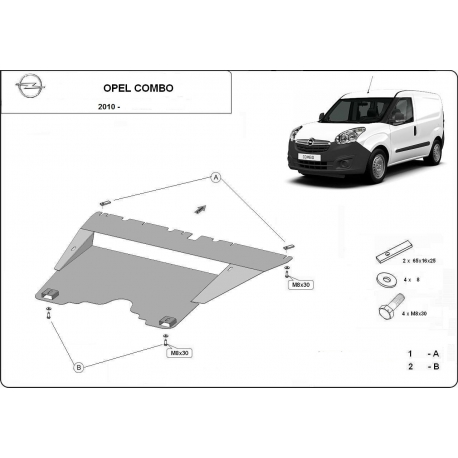 Opel Combo Motorschutz - Stahl