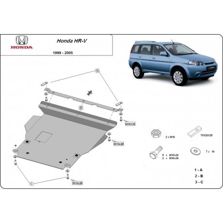 Honda HR-V Cover under the engine - Metal sheet