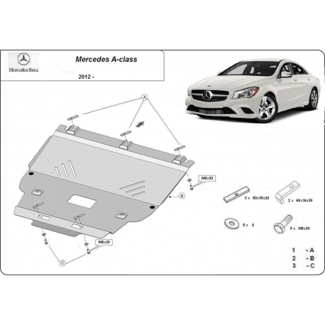 Mercedes A-Class Unterfahrschutz - Stahl