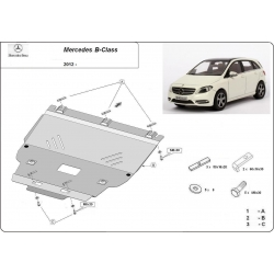 Mercedes B-Class Cover under the engine - Metal sheet
