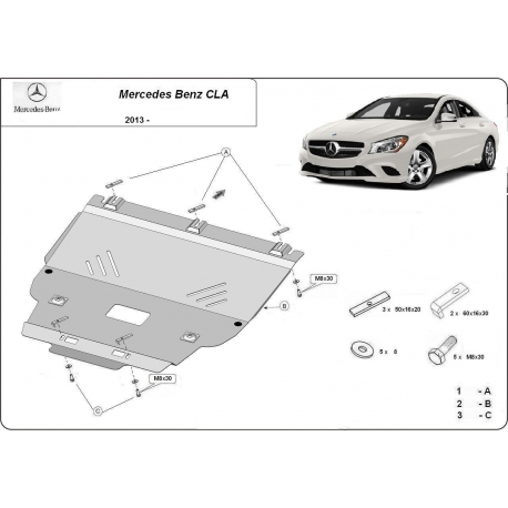 Mercedes CLA Cover under the engine - Metal sheet