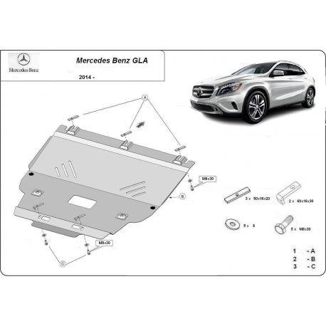 Mercedes GLA Motorschutz - Stahl