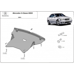 Mercedes C-Class, W203 Cover under the engine - Metal sheet