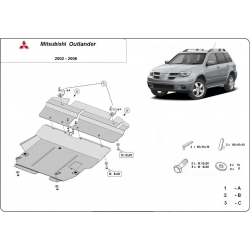 Mitsubishi Outlander Motorschutz - Stahl