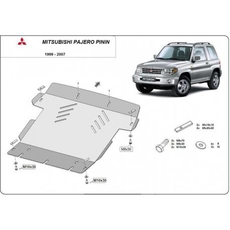 Mitsubishi Pajero Pinin Motorschutz - Stahl
