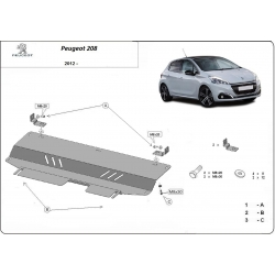 Peugeot 208 Cover under the engine - Metal sheet