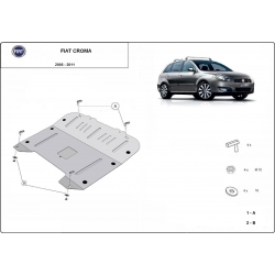 Fiat Croma Cover under the engine - Metal sheet