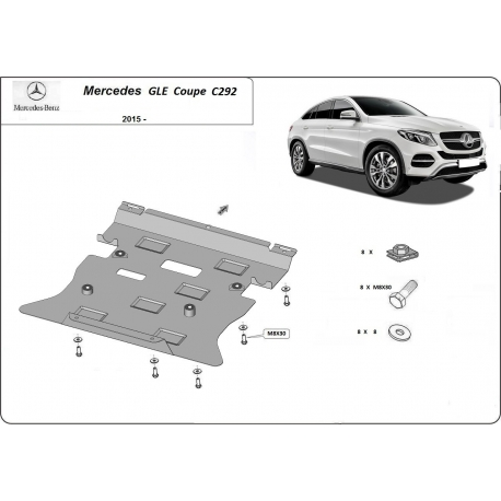 Mercedes GLE Coupe C292 Cover under the engine - Metal sheet