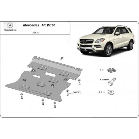 Mercedes ML W166 Unterfahrschutz - Stahl
