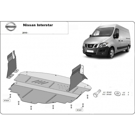 Nissan Interstar (cover under the engine) - Metal sheet