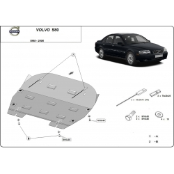 Volvo S80 (cover under the engine) - Metal sheet