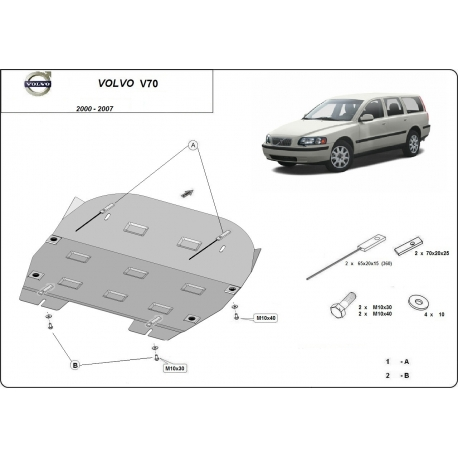 Volvo V70 (cover under the engine) - Metal sheet