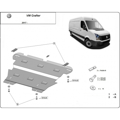 VW Crafter (cover under the engine) - Metal sheet