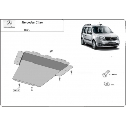 Mercedes Citan (cover under the engine) - Metal sheet