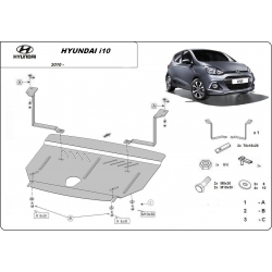 Hyundai i10 (cover under the engine) - Metal sheet