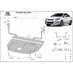 Hyundai Solaris (cover under the engine) - Metal sheet