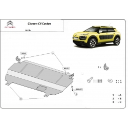 Citroen C4 (cover under the engine) - Metal sheet