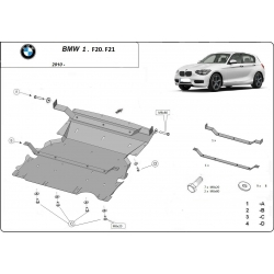 BMW f20 (cover under the engine) - Metal sheet