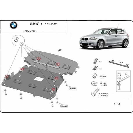 BMW e81 (cover under the engine) - Metal sheet