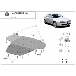 Alfa Romeo 159 (cover under the engine) - Metal sheet