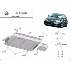 Alfa Romeo 156 cover under the engine - Metal sheet