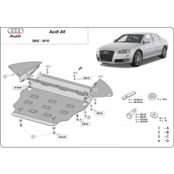Audi A8 cover under the engine - Metal sheet