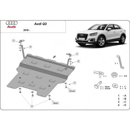 Audi Q2 kryt pod motor - plech