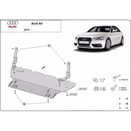 Audi A4 cover under the engine - Metal sheet