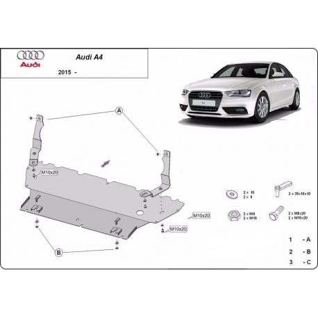 Audi A4 Motorschutz - Stahl